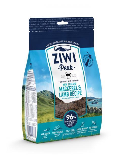 ZIWI Peak õhu käes kuivatatud kassitoit makrelli ja lambaga