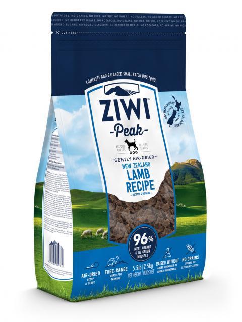 ZIWI Peak õhu käes kuivatatud koeratoit lambalihaga