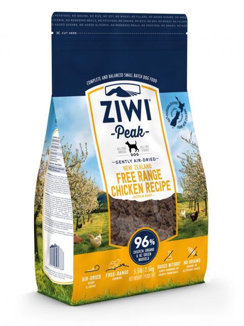 ZIWI Peak õhu käes kuivatatud koeratoit vabakäigu kanaga